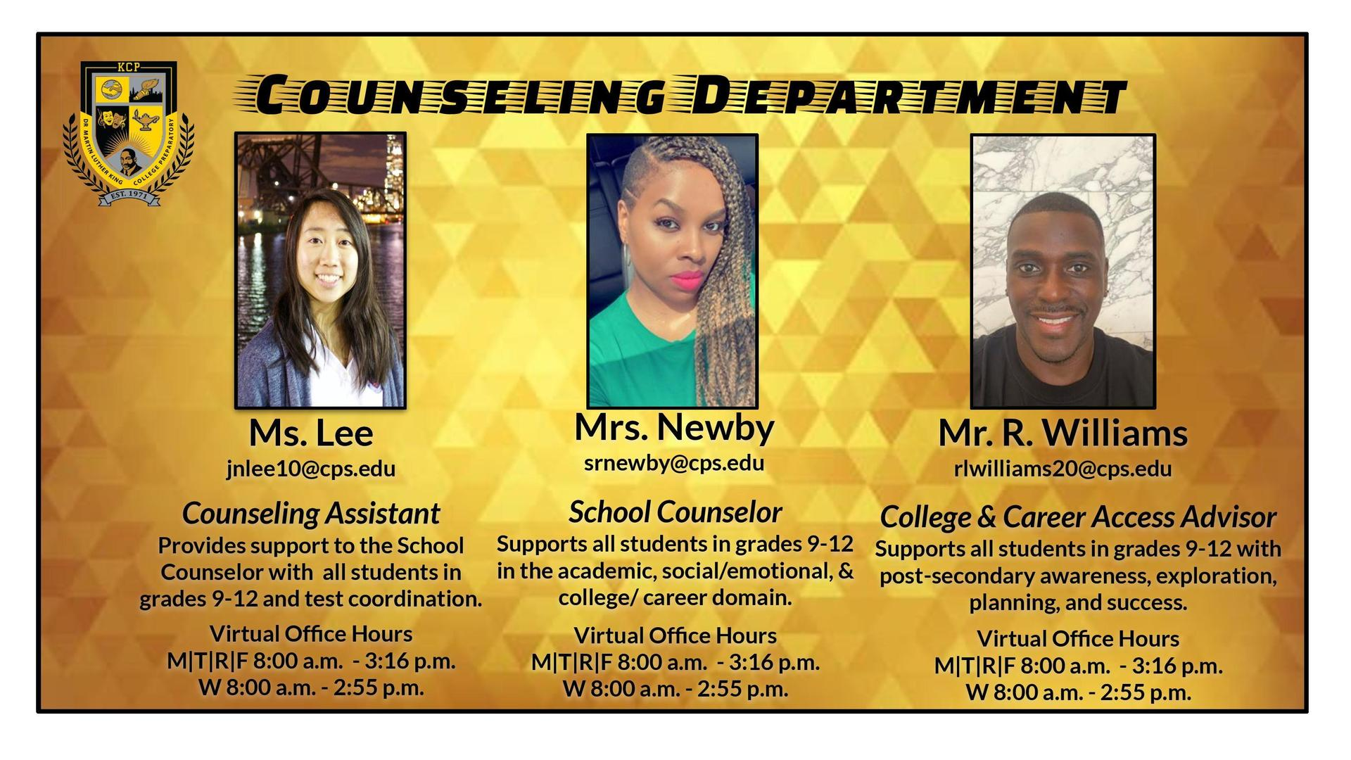 KCP Counseling Department