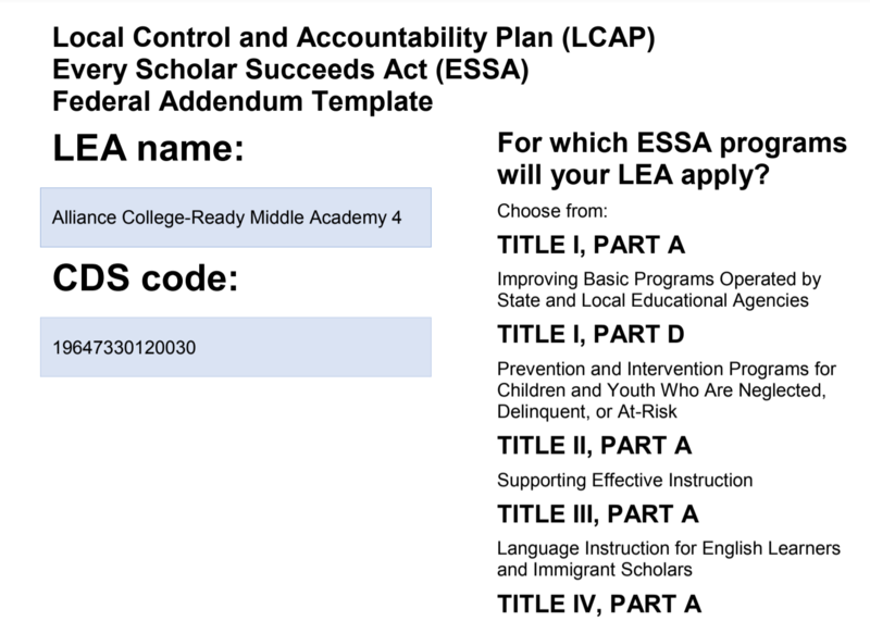 LCAP Federal Addendum Thumbnail Image