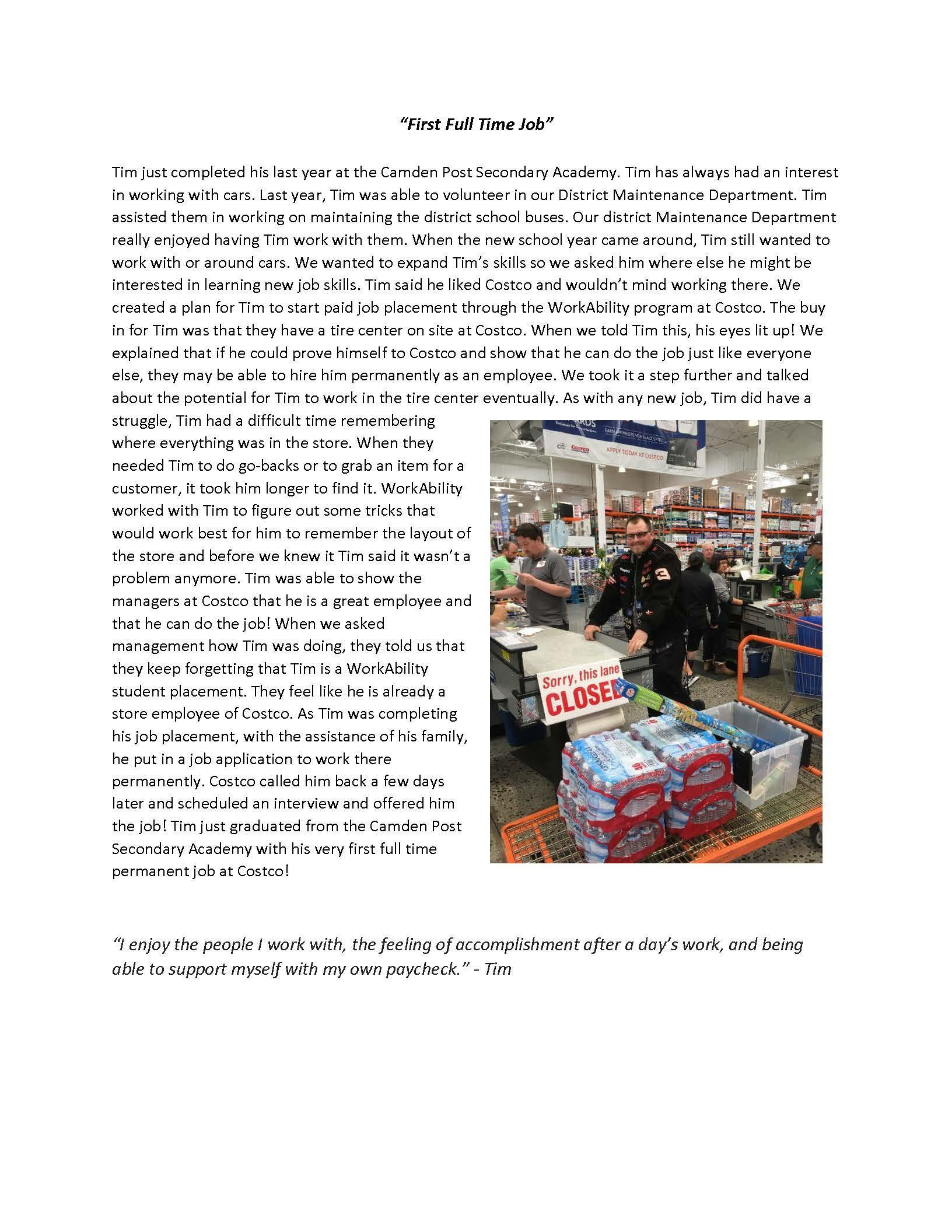 Working at Costco