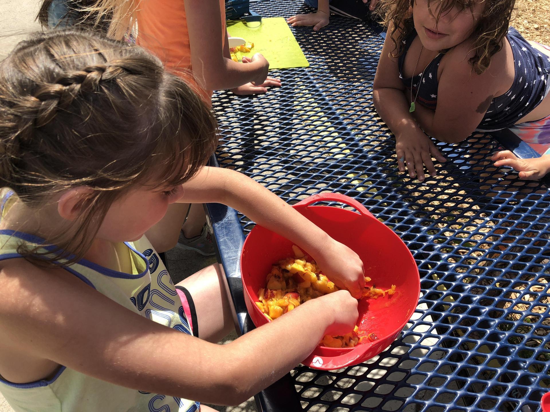 Student Preps Peach Popsicles