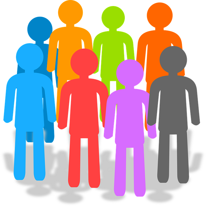 Clip art of group meeting representing special called Board meeting.