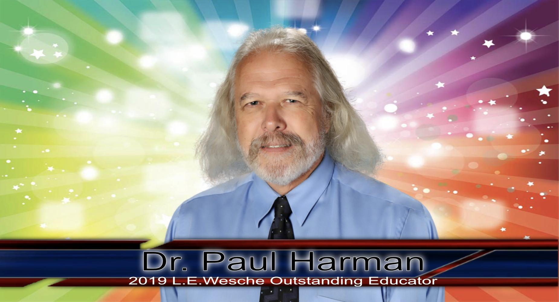 Harman, Paul_2019 Outstanding Educator