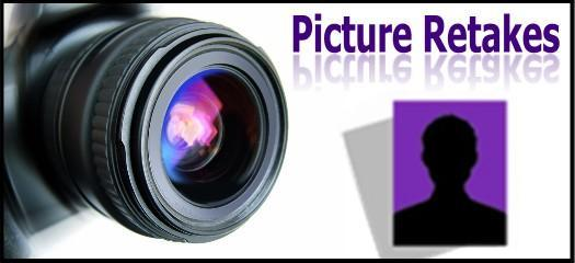 photo of a camera with the text Picture Retakes