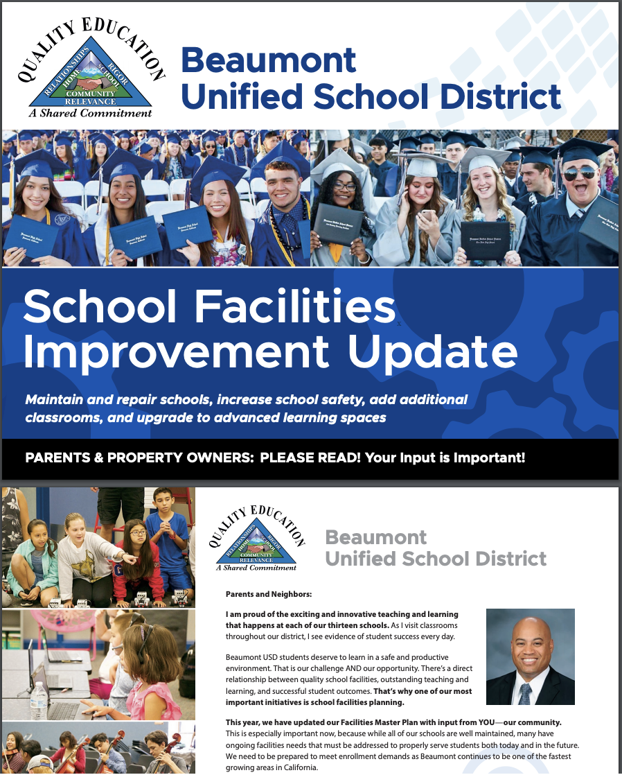 School Facilities Informational Mailer