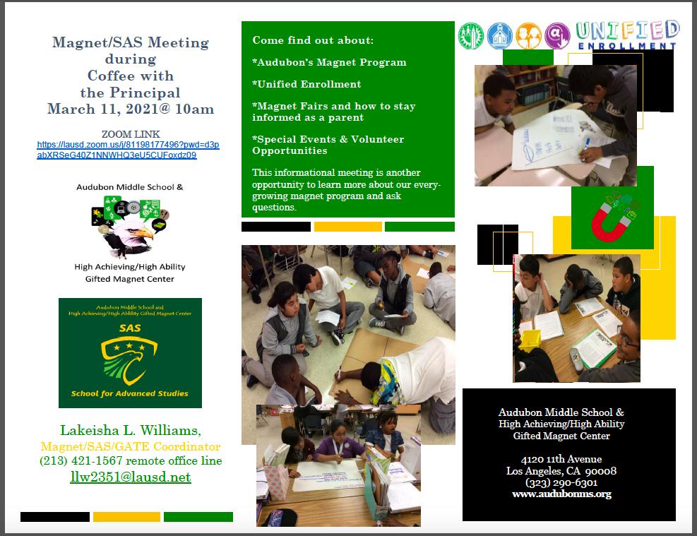 Magnet/SAS Parent Meeting