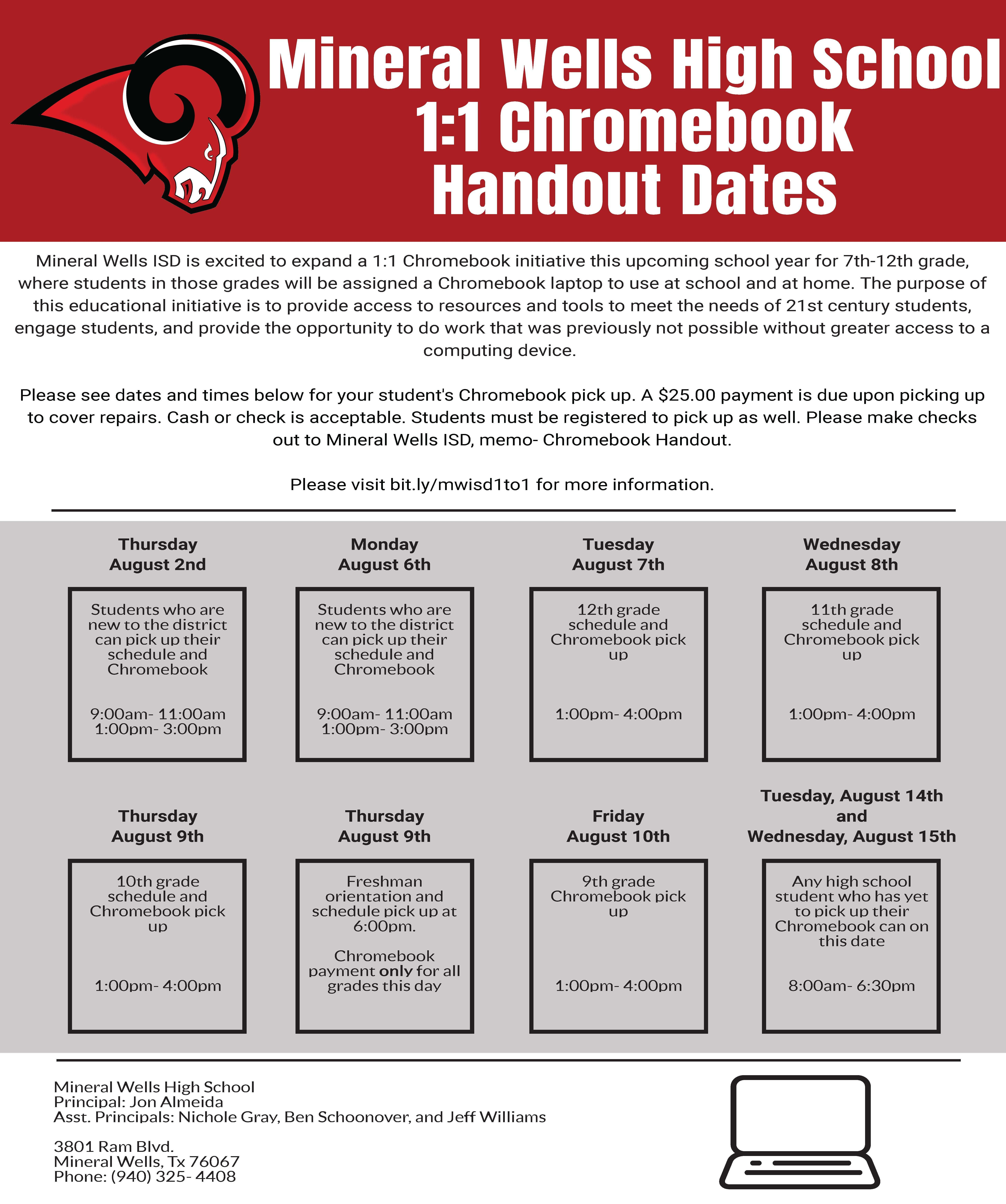 MWHS Chromebook Pick Up
