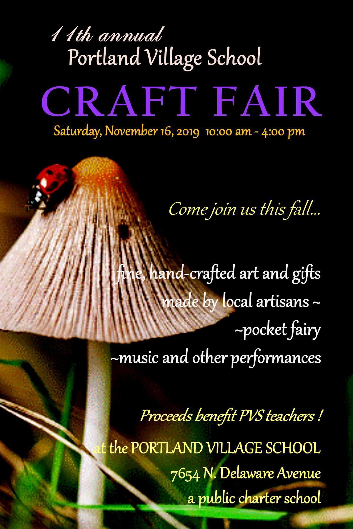 craft fair flyer. Nov 16. 10-4.