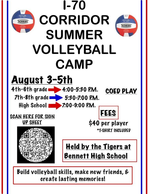 I-70 Summer Volleyball Camp August 3-5 Featured Photo