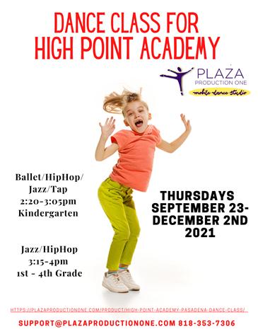 Jazz and Hip Hop Dance Class Poster for grades K-4