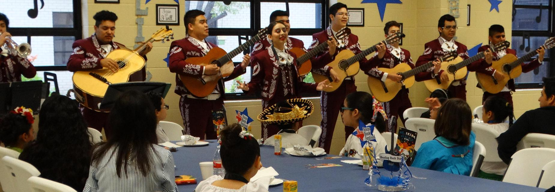 Mariachi performing at the Reading Rock Stars breakfast