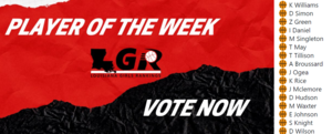 LGR Player of the Week Nomination for M. Waxter