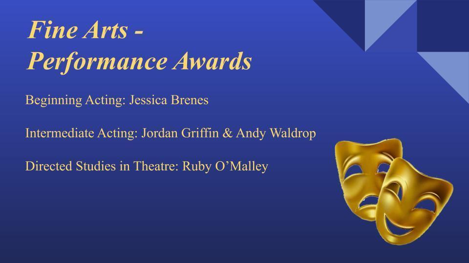 Fine Arts Performance Awards