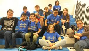 Members of the Westfield Robotics Club take a break from competing in the FIRST Tech Challenge Robo-Ruckus on Sunday, Nov. 4 at Westfield High School.