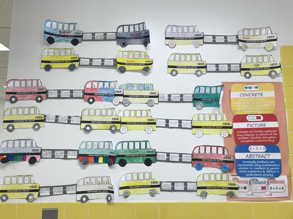 concrete pictorial abstract busses activity