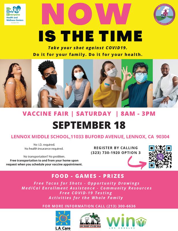 Vaccine flyer English