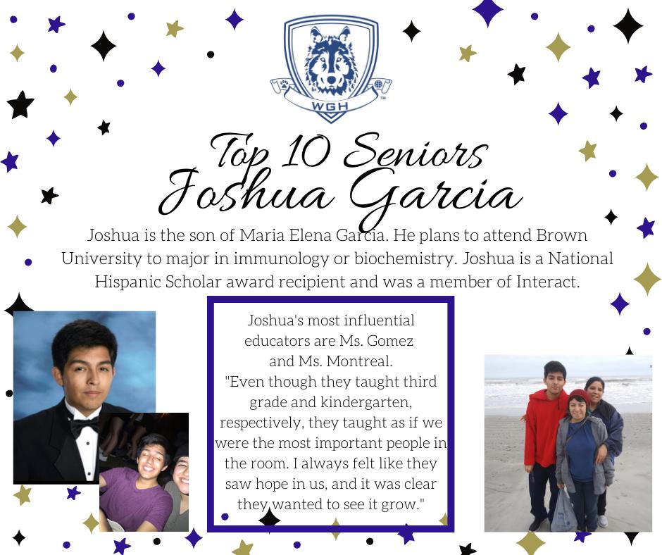 graphic with Joshua Garcia