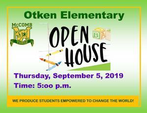 Otken Elementary Open House 2019