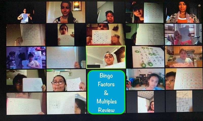 Mrs. Pinto & Ms. Chica Hold Virtual Bingo Contest