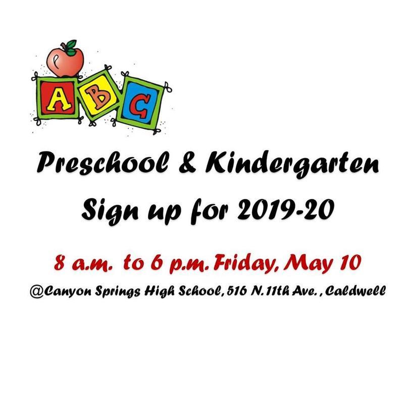 Preschool & kindergarten Registration for 2019-20 Thumbnail Image