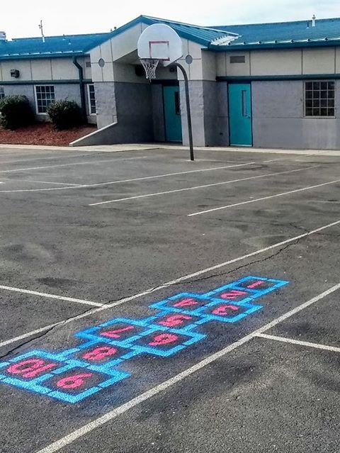 Hopscotch at Snake River Elementary.