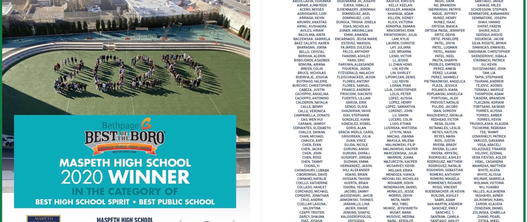 newspaper ad congratulating seniors