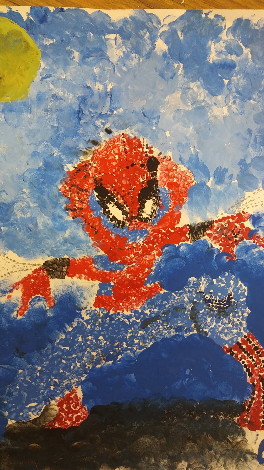 Landmark Student Painting of Spiderman