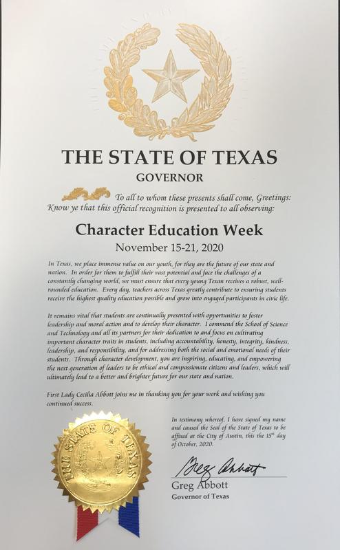 Proclamation of Texas Character Education Week Featured Photo