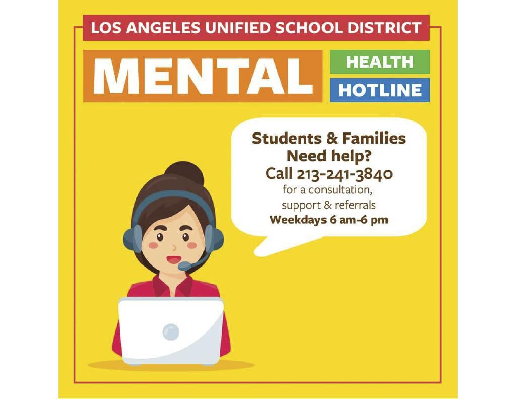 Student Mental Health Hotline