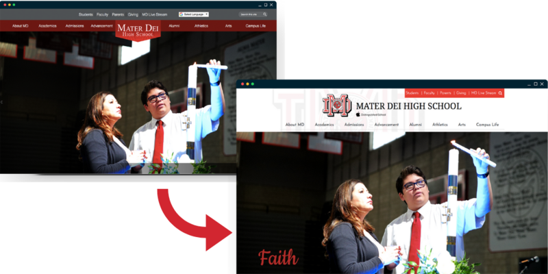 Mater Dei Before & After