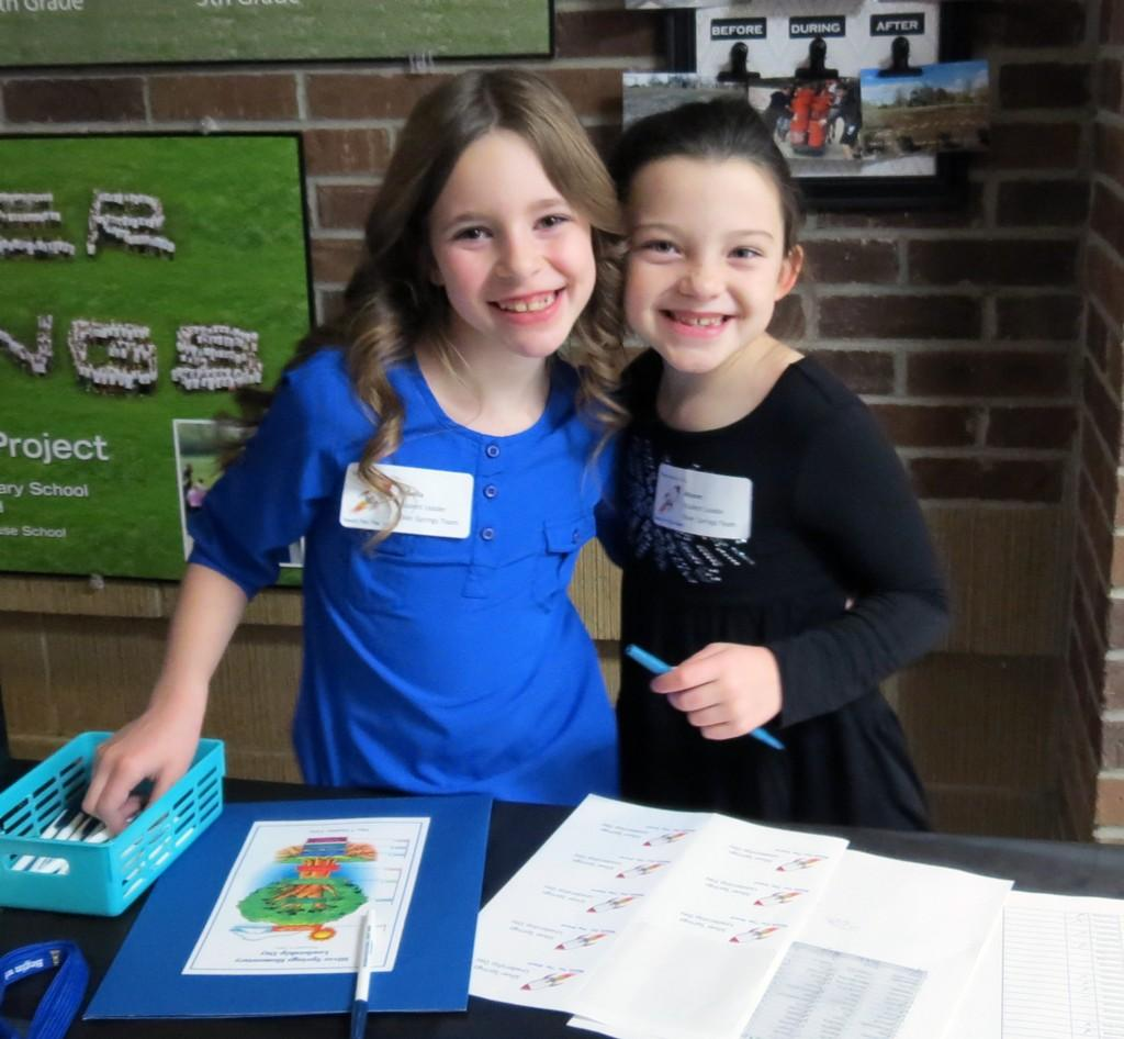 Two students in Leadership role on Leadership day