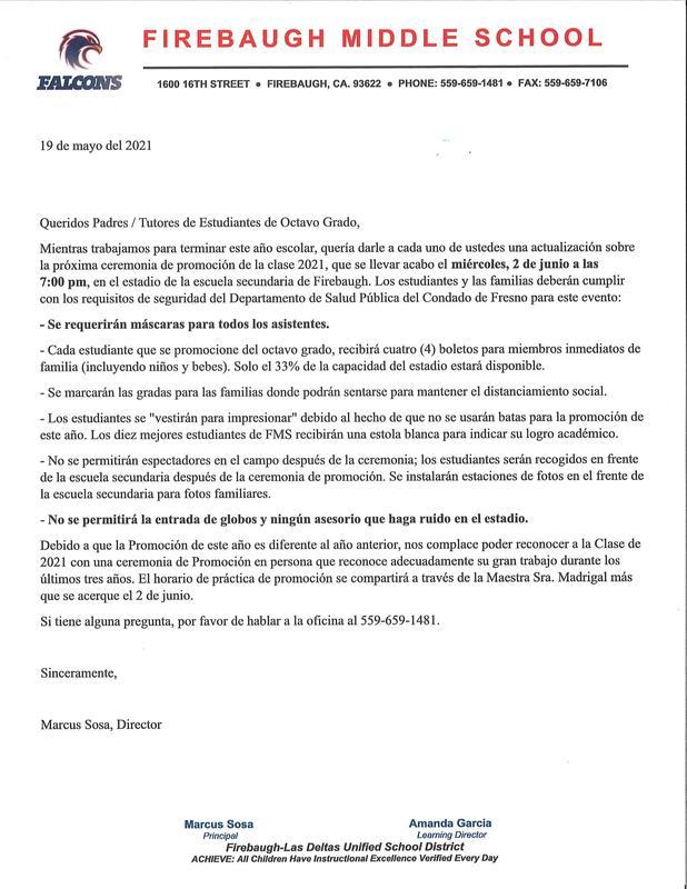 Parent Letter Spanish