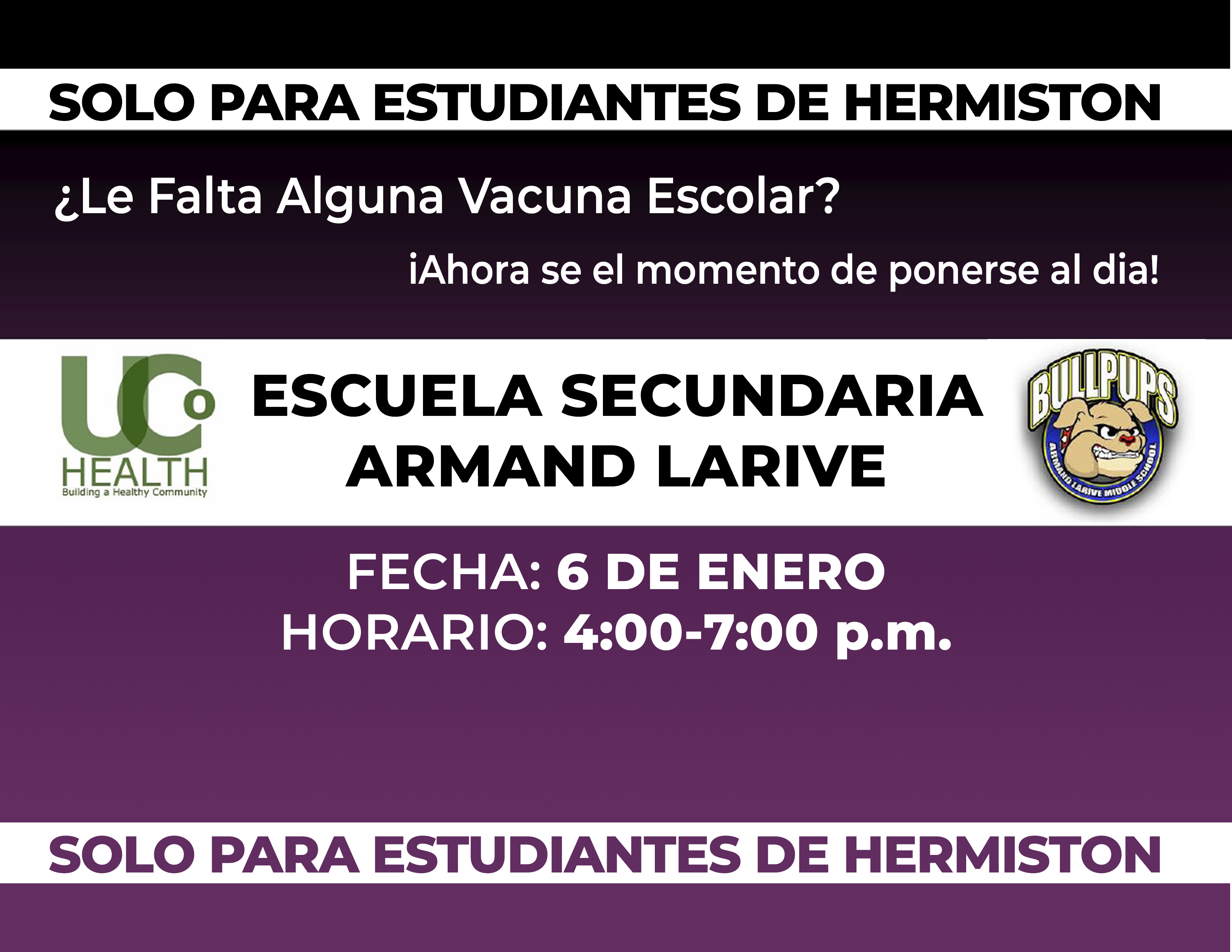Immunization Clinic Flyer Spanish