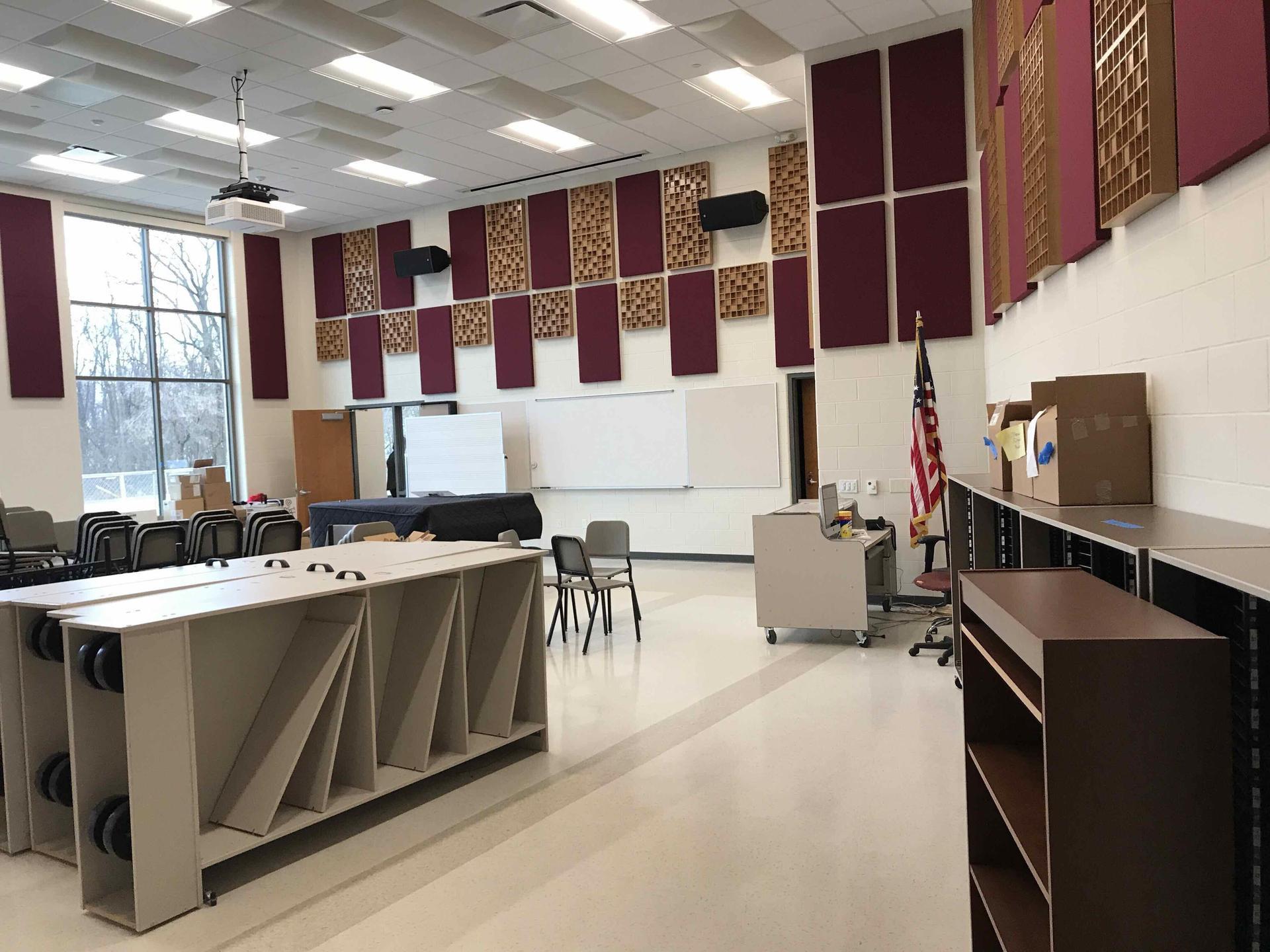 New choir room