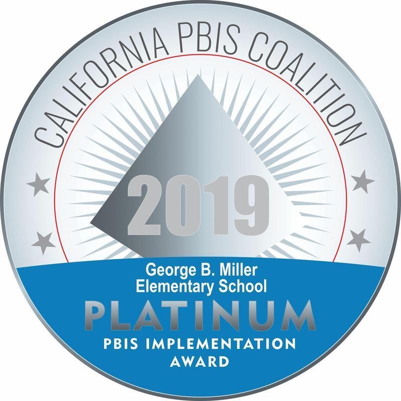 Miller PBIS Platinum medal