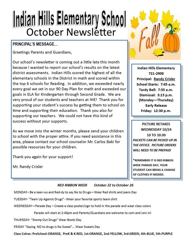 OCTOBER NEWS LETTER Featured Photo