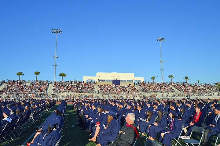 A view of the entire stadium at graduation