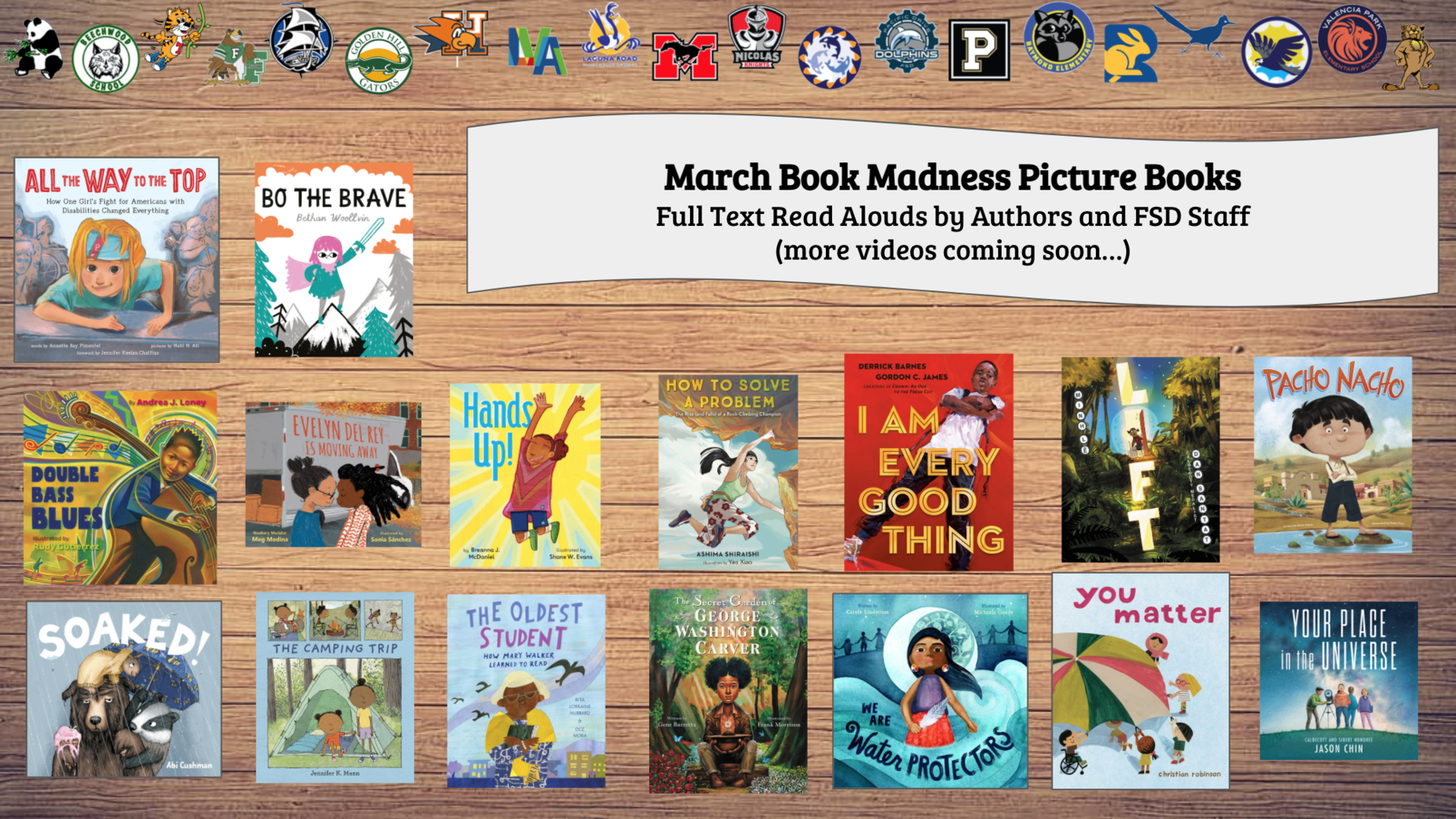 March Madness Read Alouds Link for FSD