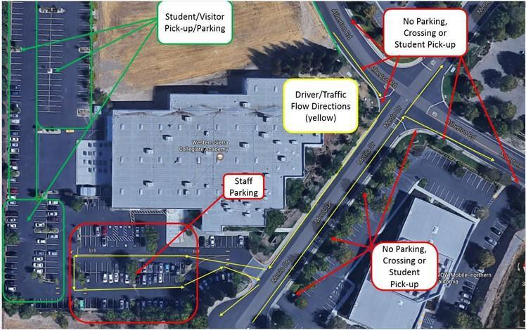 Map of WSCA parking lot