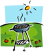 BBQ on a lawn under the sun