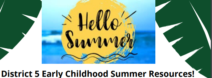 Hello summer written in fancy lettering on top of a bright yellow sun over blue beach water