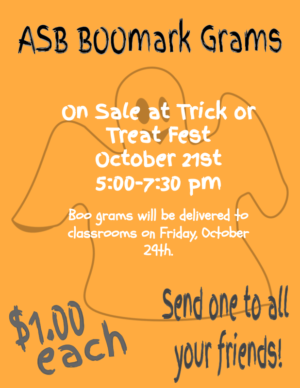 Flyer for Boo Grams