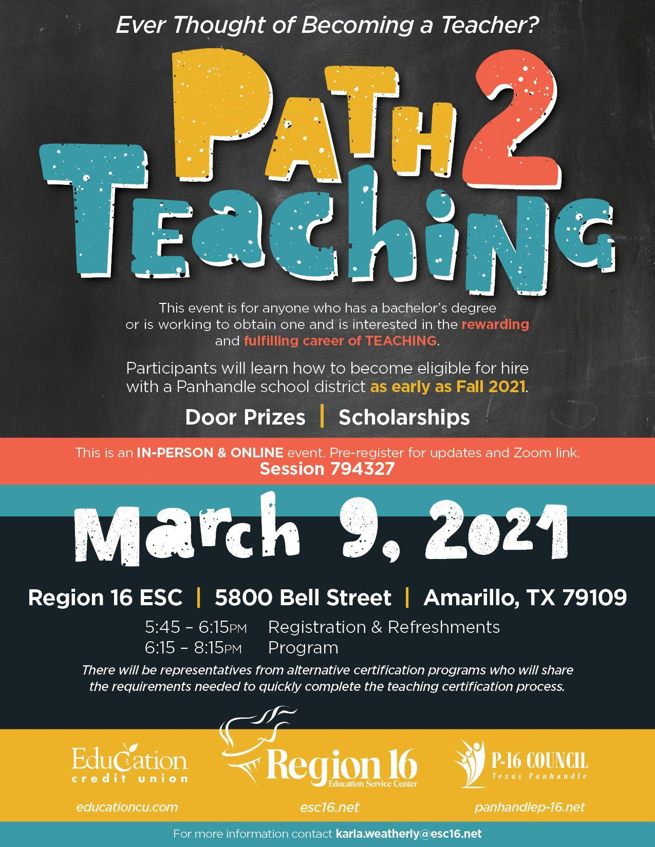Path 2 Teaching Flyer