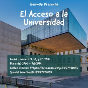 Gear-Up College Parent Workshop - Spanish.png