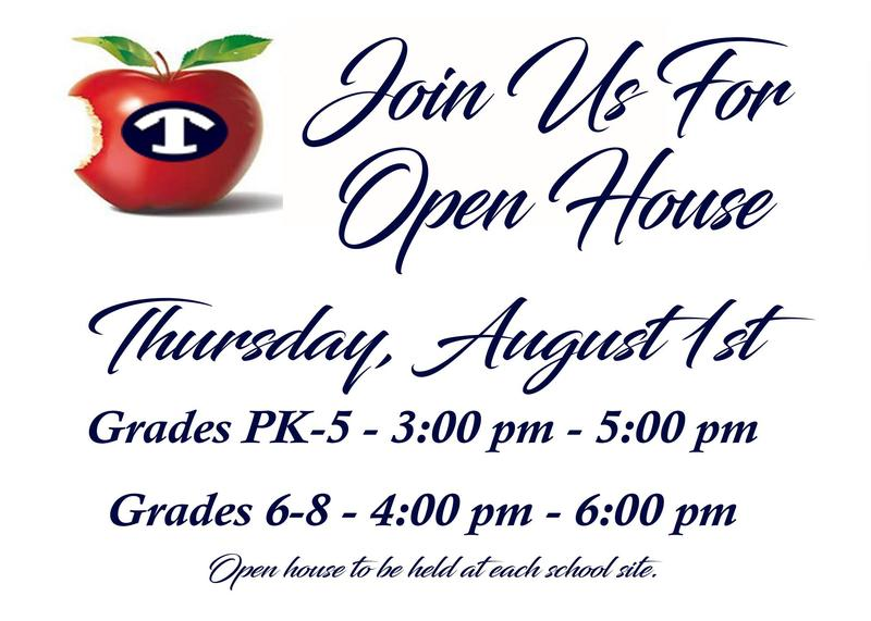 Open House for Elementary and Middle Schools Featured Photo