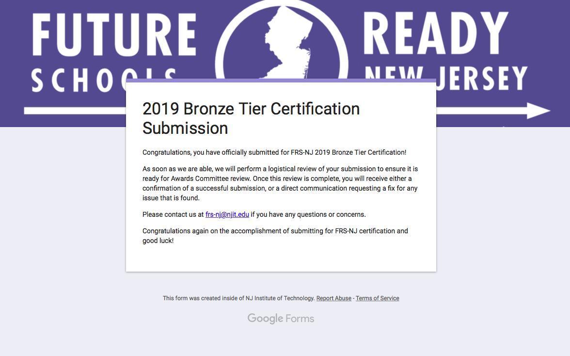future ready bronze tier certification
