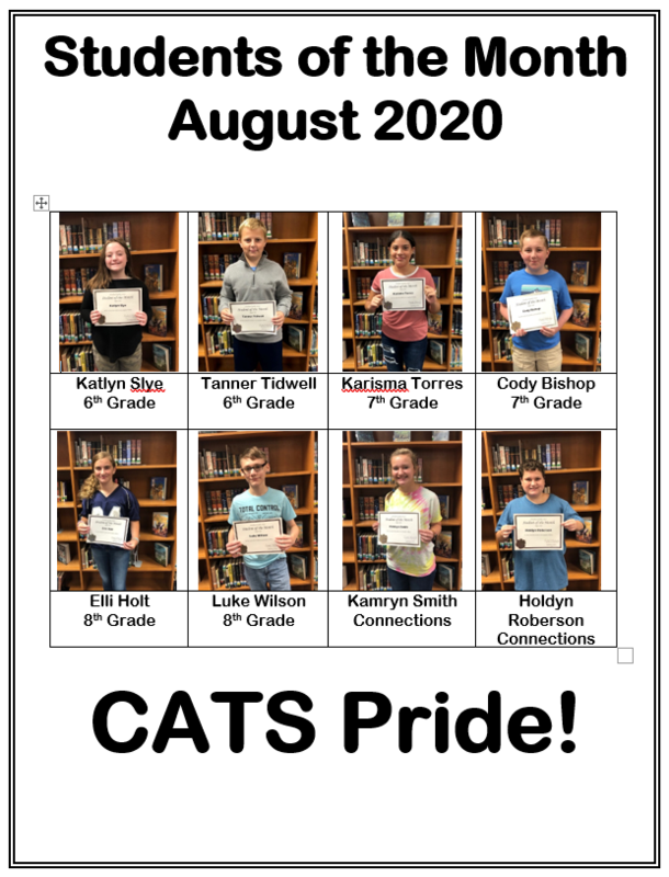 Student of the Month- August 2020 Featured Photo