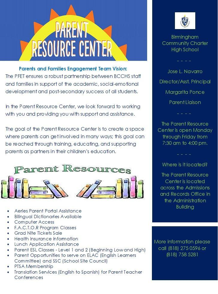 Parent Center Flyer