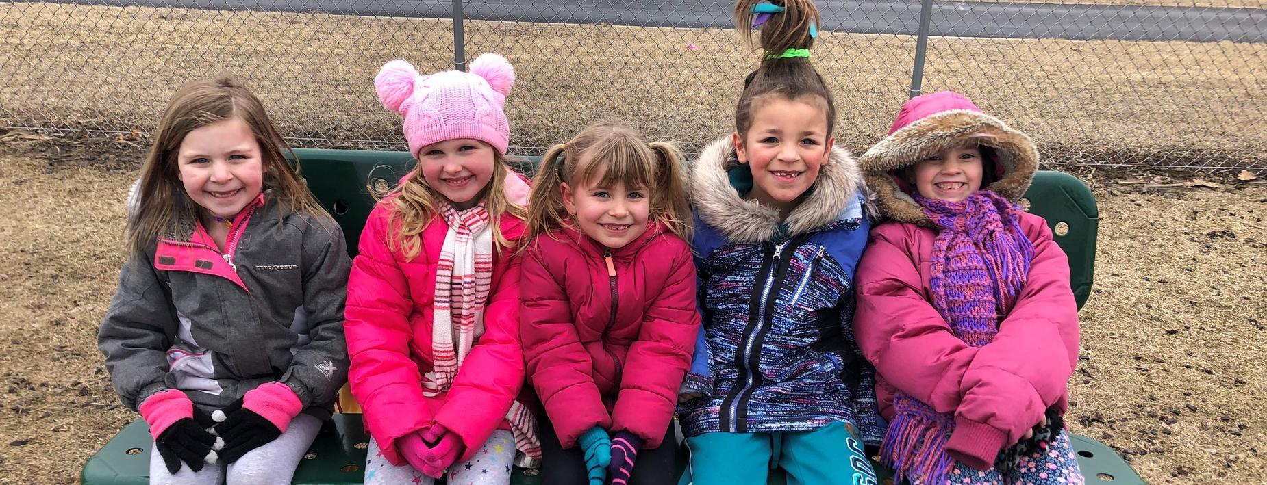 girls enjoying a winter day at the ECC