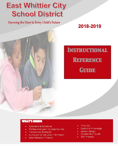 Here is your 18-19 Instructional Reference Guide!