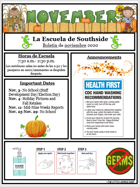 November 2020 Newsletter- Spanish Featured Photo